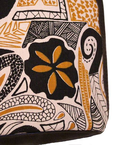Luca Fossil Mustard - Veske med sennepsgul og svart mønster